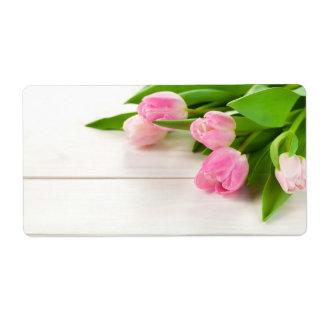 Étiquette Arrière - plan de ressort avec des fleurs de