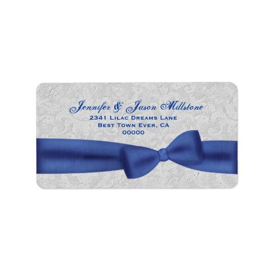 Étiquette Arrière - plan texturisé bleu de gris argenté
