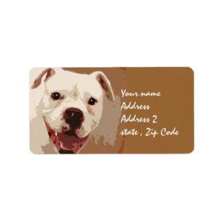 Étiquette Art de chien de boxeur