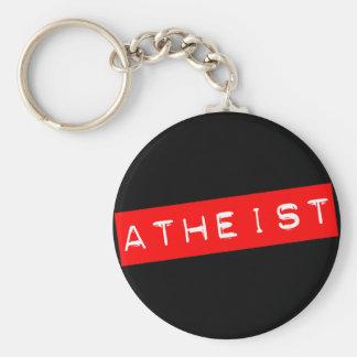 Étiquette athée de Dymo Porte-clé Rond