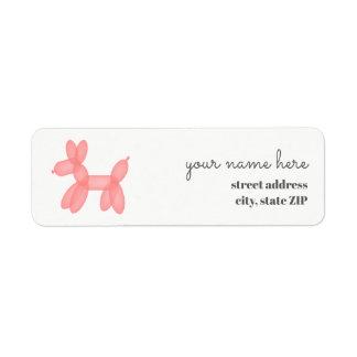 Étiquette Au sujet de pour sauter le baby shower rose