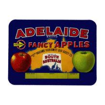 Étiquette australien de pommes d'Adelaïde Magnets En Rectangle