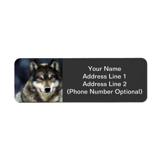 Étiquette Autocollant d'adresse de loup