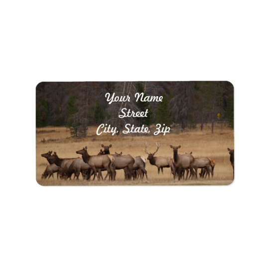 Étiquette Autocollant d'adresse de troupeau d'élans