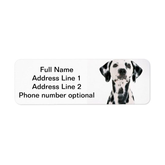 Étiquette Autocollant dalmatien d'adresse