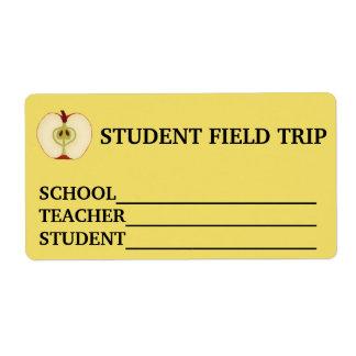 Étiquette Autocollant nommé fait sur commande d'excursion