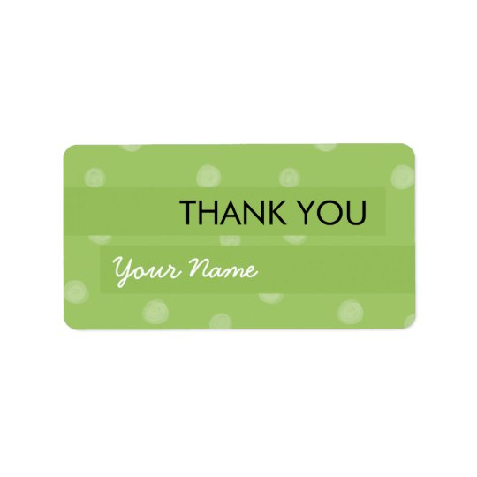 Étiquette Autocollant vert peint de Merci de points