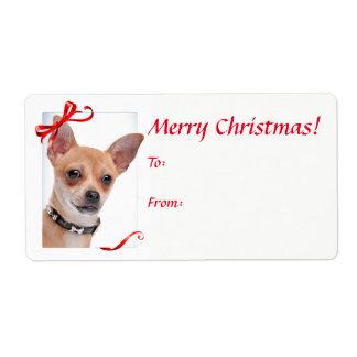 Étiquette Autocollants de cadeau de Noël de chiwawa