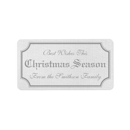 Étiquette Autocollants vintages gris d'étiquette de cadeau d