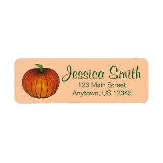 Étiquette Automne orange de thanksgiving de Halloween de