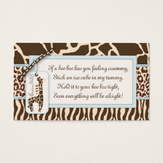 Étiquette B de cadeau de garçon de safari Cartes De Visite