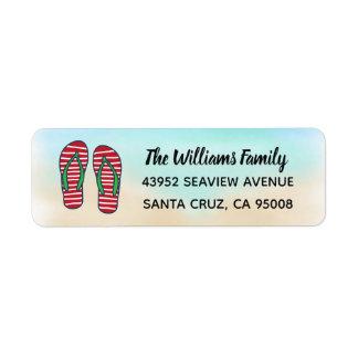 Étiquette Bascules électroniques rouges de Noël hawaïen