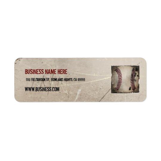 Étiquette Base-ball grunge vintage frais personnalisé