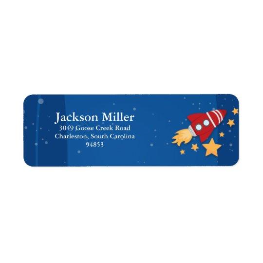 Étiquette Bateau de Rocket