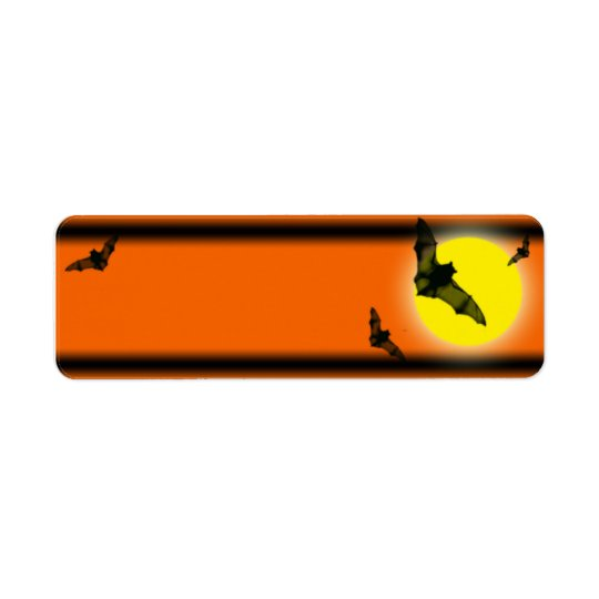 Étiquette battes de Halloween