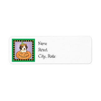 Étiquette Beagle de Halloween