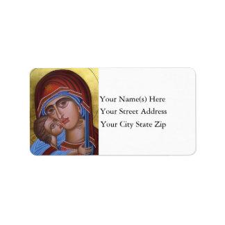 Étiquette Beaux-arts vintages de Noël de Jésus de Mary et de