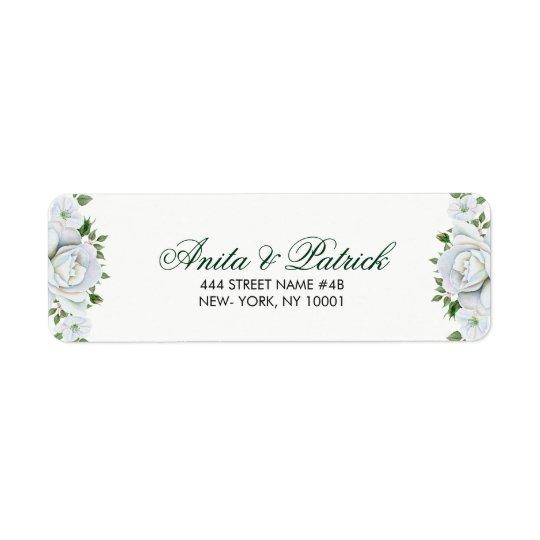 Étiquette Beaux roses blancs