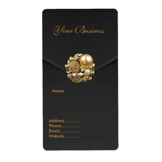 Étiquette Bijou de velours de noir d'étiquette de adresse