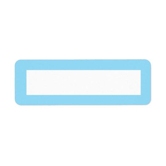 Étiquette Blanc bleu de frontière de couleur solide
