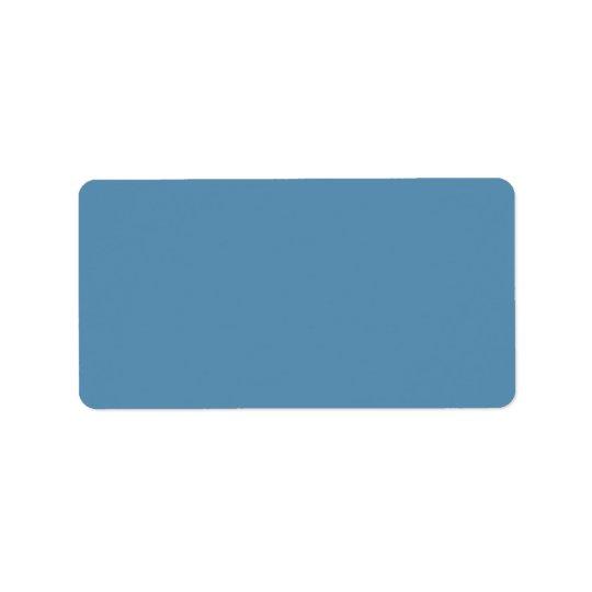 Étiquette Blanc de modèle customisé par couleur bleue de