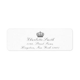 Étiquette Blanc nuptiale de princesse héritière grise des