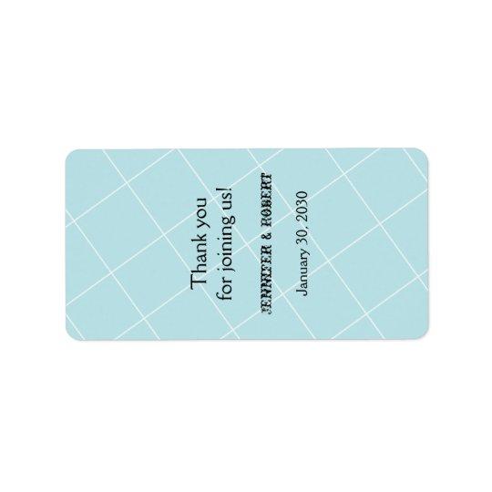Étiquette bleu de baume à lèvres de noces de