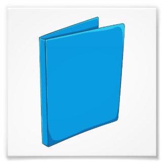 Étiquette bleu fait sur commande photographe