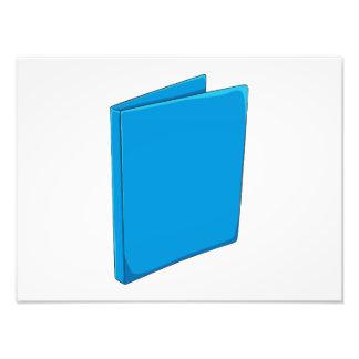 Étiquette bleu fait sur commande photos d'art