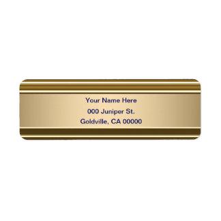 Étiquette Bleu royal sur le regard brillant d'or