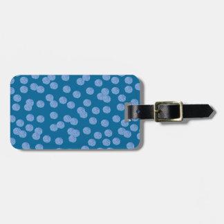 Étiquette bleue de bagage de pois étiquette à bagage