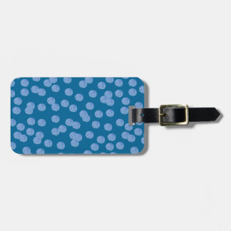 Étiquette bleue de bagage de pois étiquettes bagages