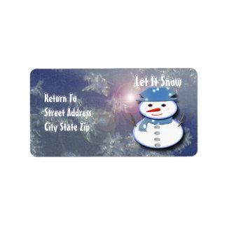 Étiquette Bonhomme de neige blanc pur