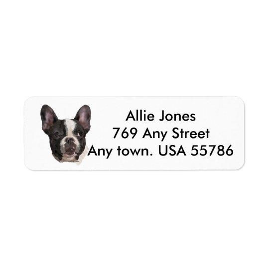 Étiquette Boston Terrier customisé