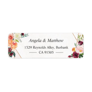 Étiquette Botanique floral de fleur lunatique de jardin