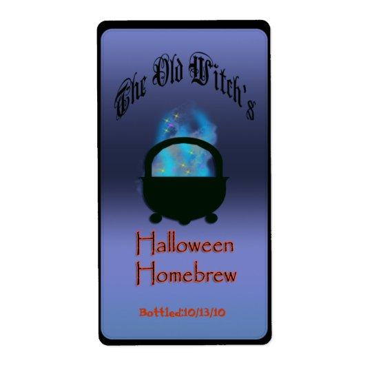Étiquette brew de Halloween