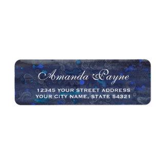 Étiquette Bruine bleue de mariage