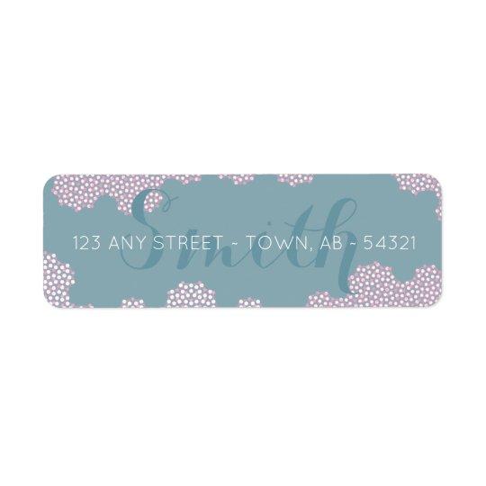 Étiquette Bulles de corail modernes Aqua abstrait et rose