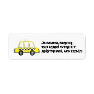 Étiquette Cabine jaune personnalisée New York de contrôleur
