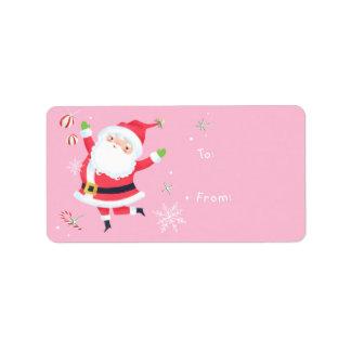 Étiquette Cadeau de Père Noël