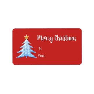 Étiquette Cadeau mignon d'arbre de Noël
