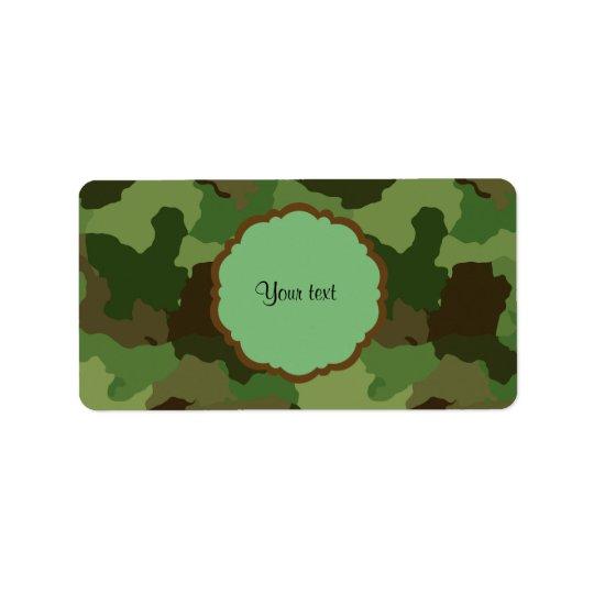 Étiquette Camouflage