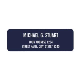 Étiquette Caractères gras professionnels de bleu marine et