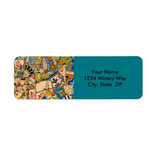 Étiquette Carreau de céramique de Parc Guell à Barcelone
