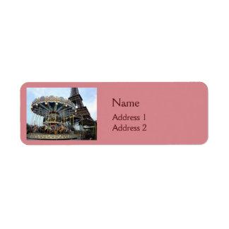 Étiquette Carrousel de Paris (et Tour Eiffel)