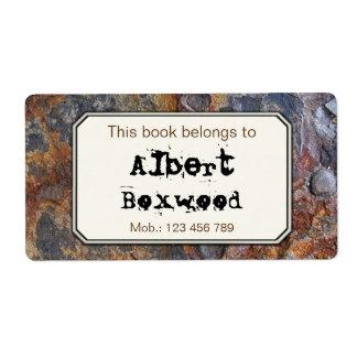 Étiquette Ce livre appartient à la texture nommée faite sur