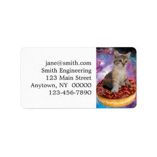 Étiquette Chat-animal-félin espace-Kitty-mignon de chat-chat