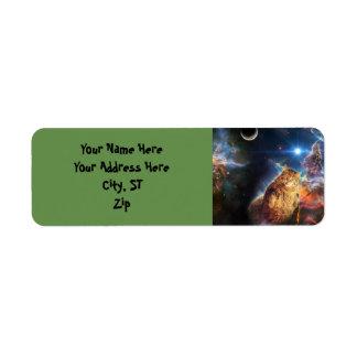 Étiquette Chat de nébuleuse - gros chat - chat de galaxie -