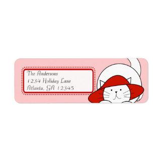 Étiquette Chat lunatique dans une adresse de retour de Red