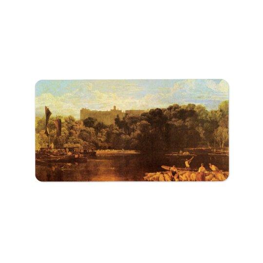 Étiquette Château de Joseph Mallord Turner - de Windsor du